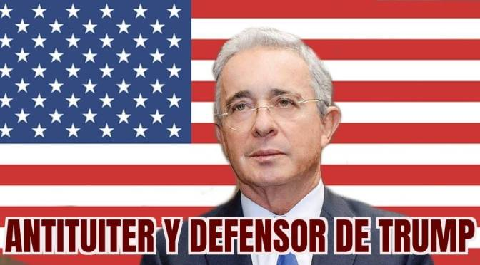 Expresidiario Uribe tuitea contra twitter en defensa de Trump